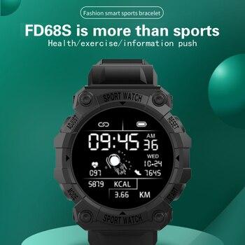 2021 Smart Watch Men Women Heart Rate Fitness Tracker Bracelet Watch Blue.tooth Waterproof Sport Smartwatch For Android IOS 1
