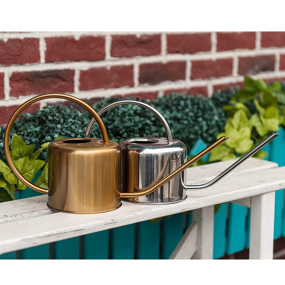 1 шт. 1.3L растения Лейка Нержавеющаясталь Лейка длинным носиком суккуленты полива чайник для садовых инструментов