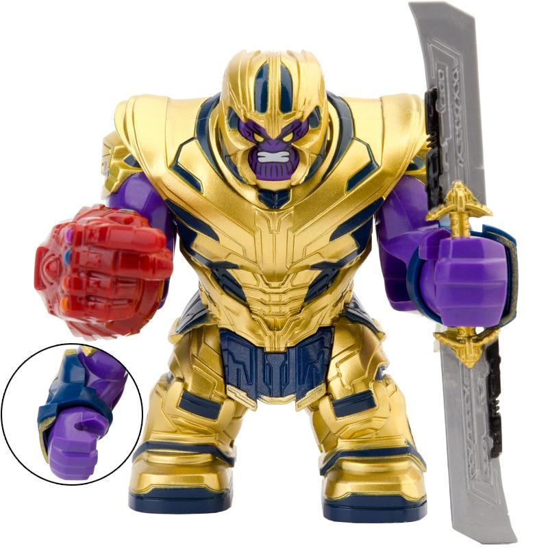 End Game Thano 7CM Big Size Figures Infinity Gems Gauntlet Sword Mini Dolls Building Blocks Bricks Toy For Children