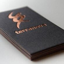 90x54 мм 760 г толстый буквенный пресс визитная карточка печать высокое качество sanwich черная бумага красная бронзовая фольга тиснение имя карты