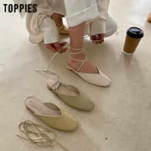 summer sandals women flat bandage shoes kroean fashion comfo