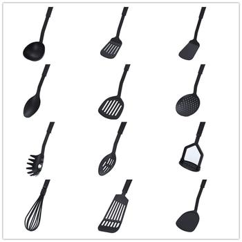 1 spoon colander silicone spatula kitchen tool cookware shovel tool high temperature non-stick soup spoon special cooking shovel 1