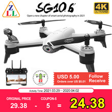 Zll sg106 wifi fpv rc zangão 4k câmera fluxo óptico 1080p hd câmera dupla em tempo real vídeo aéreo grande angular quadcopter aeronaves