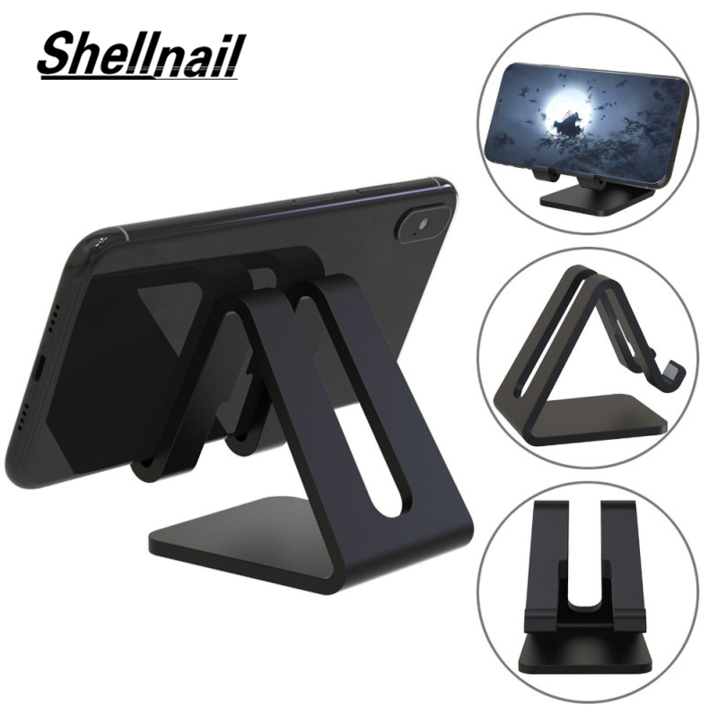SHELLNAIL Universal Plastic Desktop Phone Tablet Stand Holder For Ipad IPhone For Xiaomi Phone Foldable Desk Stand Holder Mount