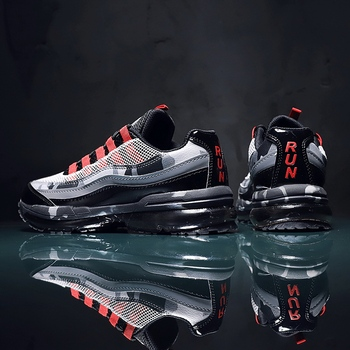 Męskie modne buty męskie trampki męskie męskie obuwie codzienne tenis luksusowe buty trener wyścig off białe buty mokasyny buty do biegania buty meskie tanie i dobre opinie yuzhy Mesh (air mesh) CN (pochodzenie) Przypadkowi buty RUBBER Lace-up Pasuje prawda na wymiar weź swój normalny rozmiar