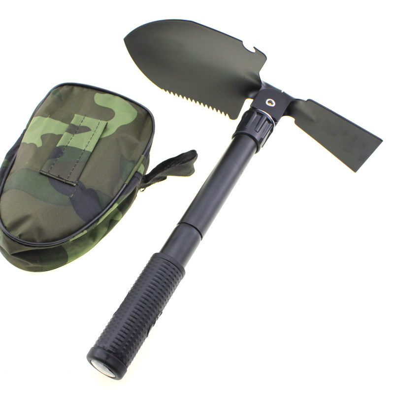 Camping Tool/Multi-functional Folding Spatula Small Shovel/Square Picks Hoe Camping Zhe Die Qiao