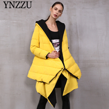 2019 Winter Women Bright down coat Double-sided wearing Female Down jacket Fashion irregular Outwear Thick Warm New YNZZU 9O032