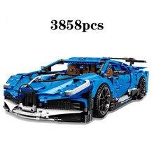 New Technic Car Series Supercar Bugattis Model La Voiture Noire Compatible Legoingly 42083 Building Blocks  Kids Toys
