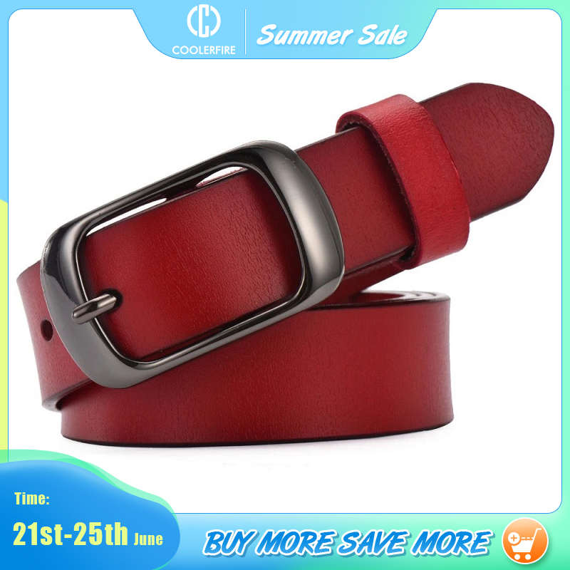 Women's strap casual all-match Women brief genuine leather belt women strap pure color belts Top quality jeans belt WH001