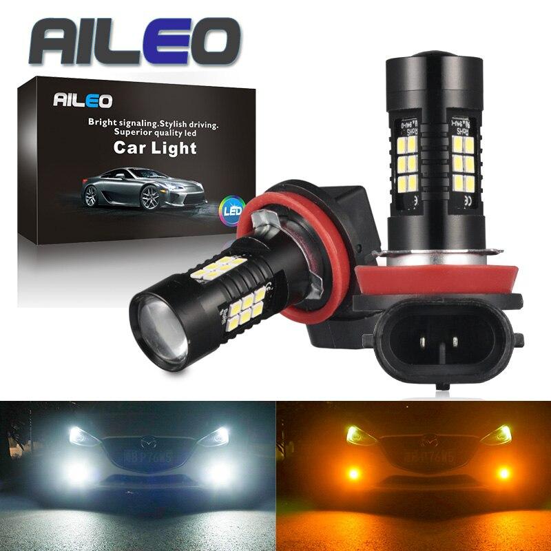 Светодиодная лампа AILEO, H8, H11, HB4, HB3, 9006, 9005, SMD, 1200 лм, 6000K, 12 В