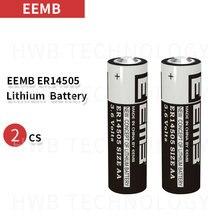 2 шт./лот EEMB ER14505 AA 3,6 В 2400 мАч литиевая батарея абсолютно, катающийся стержень литиевая батарея инструмент ПЛК батарея