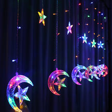 3.5M Star Moon Curtain Light Weeding Decor for Weddings Christmas Party Decor Garland Eid Mubarak Ramadan Decor Party Supplies(China)