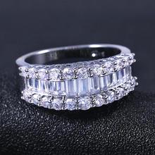 Роскошные Блестящие Обручальные кольца ustar с фианитом для