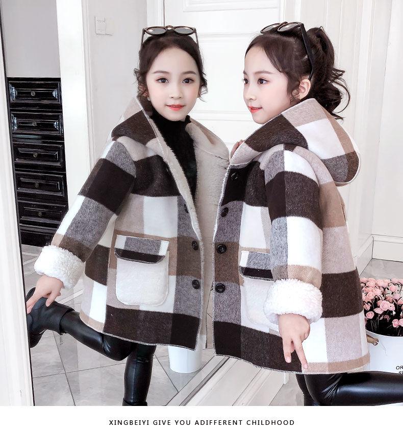 3-13t meninas inverno casaco de lã 2020