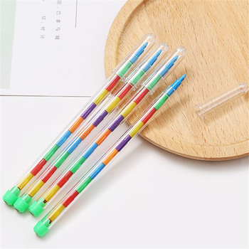 10 Colors Replaceable Crayons Oil Pastel Creative Colored Pencil Graffiti Pen for Kids Painting Drawing Kawaii Stationery