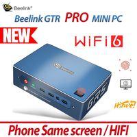 NEUE Beelink GTR PRO MINI PC Computer Windows10 WIFI6 HIFI Telefon Gleichen Bildschirm Gaming Fingerprint AMD Ryzen 5 3550H TV BOX Büro