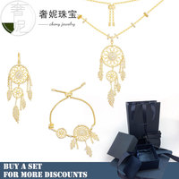 cheny s925 sterling silver Dreamcatcher series gold color monaco fashion jewelry set decoration for womens wife girlfriend gift