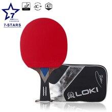 Локи WRB углерода 7 звезд настольный теннис ракетки пинг-понг Летучая мышь с ИТТФ профессиональных мониторов резиновые пинг-понга настольного тенниса аксессуары