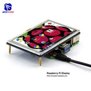 Diymore 5 Zoll Touchscreen ILI9486L 800x480 TFT LCD Display HDMI Interface mit Stift für Raspberry Pi 4B 3B + 3B 2B + Windows 10 7