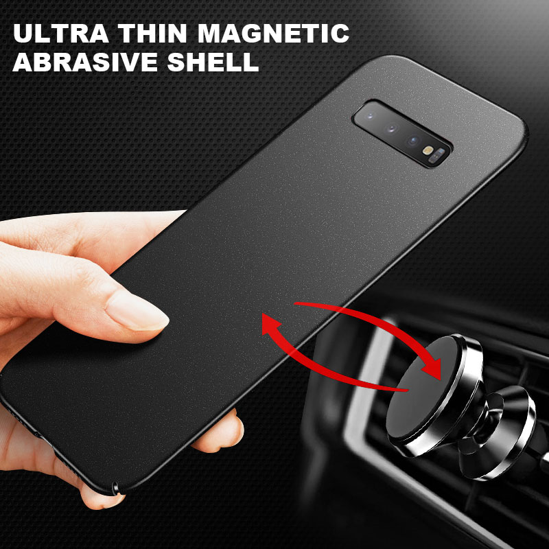 Ultra-Dunne Magnetische Hard Matte Pc Telefoon Geval Voor Samsung Galaxy S20 S10 E 5G S9 S8 Note 10 9 8 Plus Frosted Bescherming Cover