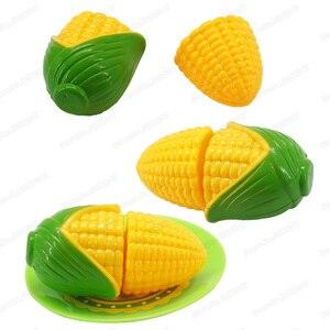 Image 4 - Mini légumes maïs fille personnage jouer cuisine jeu modèle ensemble coupe sécurité costume bricolage enfants noël cadeau jouets éducatifs