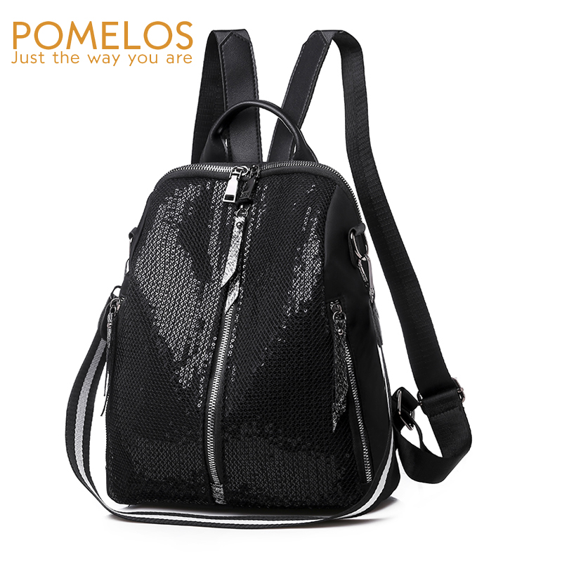 POMELOS Women Backpack Ladies Backpack Female School Bags For Teenage Girls Black Woman Backpack Shoulder Bag Rucksack Women