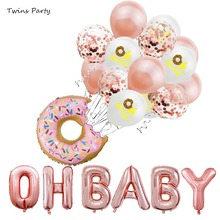 цена Twins Party  Rose Gold OH BABY Foil Balloons Its a Boy Girl Gender Reveal Baby Shower Favors Birthday Party Decorations Kids в интернет-магазинах