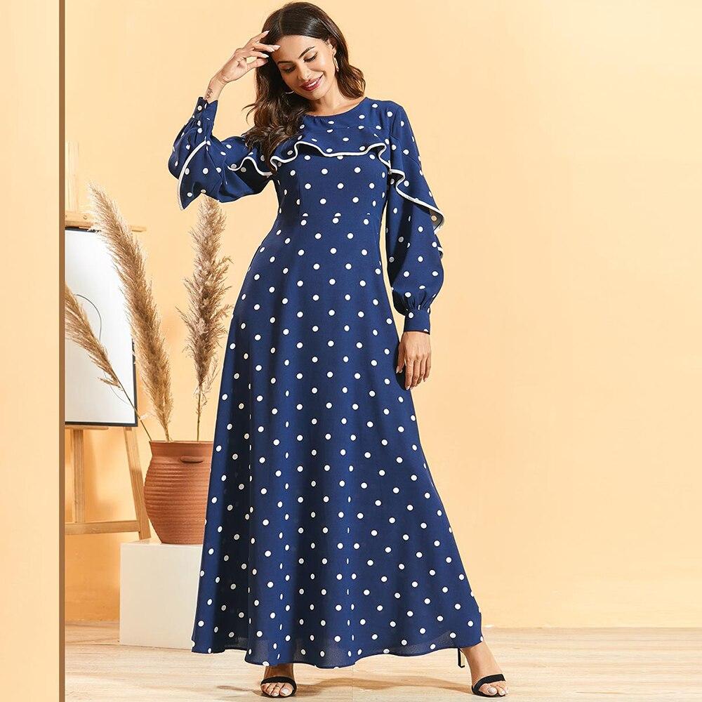 Ramadan Eid Vestidos Abaya Plus Size Pakistani Arabic Hijab Muslim Long Dress Islam Clothing Dresses For Women Robe Longue Femme