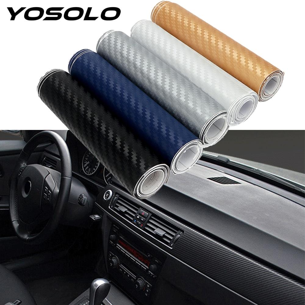 YOSOLO Automotive Interior Stickers Car Styling Vinyl Wrap Film 3D Car Stickers Decals Carbon Fiber Car Decoration Accessories(China)