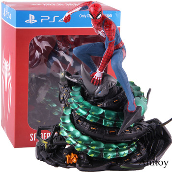 цена на Marvel Limited PS4 Spider-Man Collectors Edition Spiderman Figure Action PVC Statue Collectible Model Toy