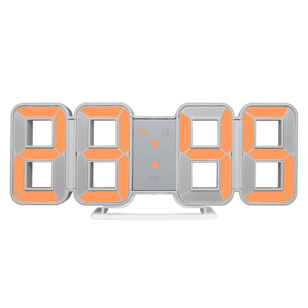 Настенные часы 3D светодиодный Календарь с большим временем температурный стол современный дизайн цифровые часы авто подсветка домашний декор будильники|Настенные часы|   | АлиЭкспресс