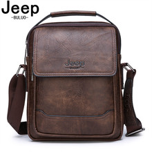 JEEP BULUO Brand Men Leather Bags Man's Fashion Shouder Mess