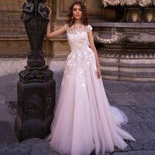 Eightree винтажные кружевные свадебные платья с круглым вырезом