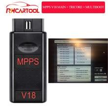 Mpps V16 V18 Ecu Chip Tuning skaner dla Edc15 Edc16 Edc17 Inkl suma kontrolna wsparcie wielojęzyczny profesjonalny skaner Mpps 18 Ecu