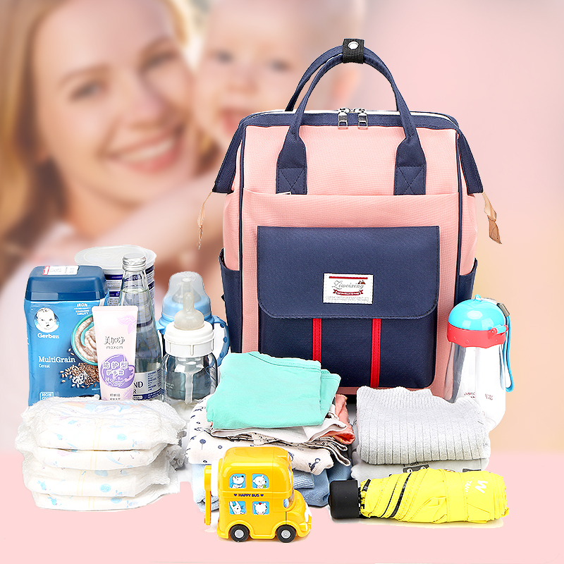 2019 New Mummy Bag Mother And Baby Backpack Backpack Female Treasure Mom Out Backpack Pregnant Mom  Bag