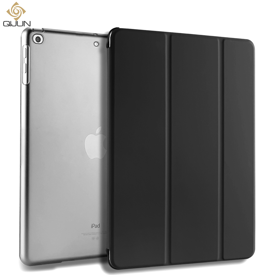 QIJUN For IPad Air 1 2 9.7 Air 3 10.5 2019 Case PU Leather Stand Fundas For IPad 2 3 4 9.7'' Ipad4 Auto Sleep Smart Folio Cover