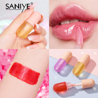 SANIYE Fruity Lip Gloss Mini Capsule Transparent Waterproof And Long Lasting Moisturizing Lip Gloss Plump Lipstick Makeup L1159 3