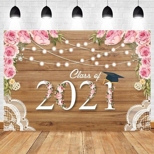 2021 כיתת סיום עונה הראשון שווי רקע לצילום Congratul מסיבת עץ לוח פרח תמונה רקע שיחת וידאו