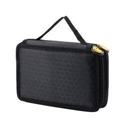 Uchwyt o dużej pojemności stacjonarny piórnik pudełko na długopis worek do przechowywania nowy  2 warstwy czarny