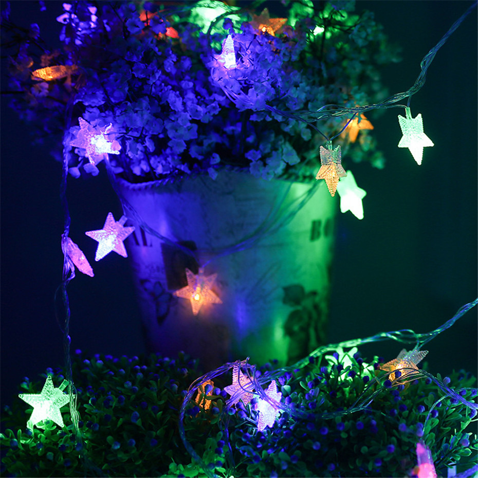 Star String Lights LED Lights Decoration 3/5M Fairy Light Home Improvement For Christmas Holiday Party Battery Operated Garlands