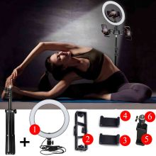 Video Light 26 CM LED Selfie Ring Light Photo Camera Tripod for Canon Nikon Mobile Phone Clip Usb Annular Lamp Make Up Lighting