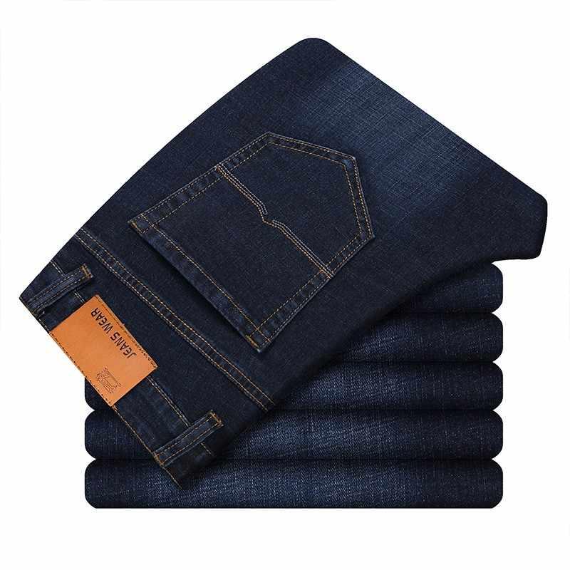 Männer Stretch Alle Schwarz Farben Hosen Marke Kleidung 2020 Neue Mode Casual Denim Hosen Männliche Qualität