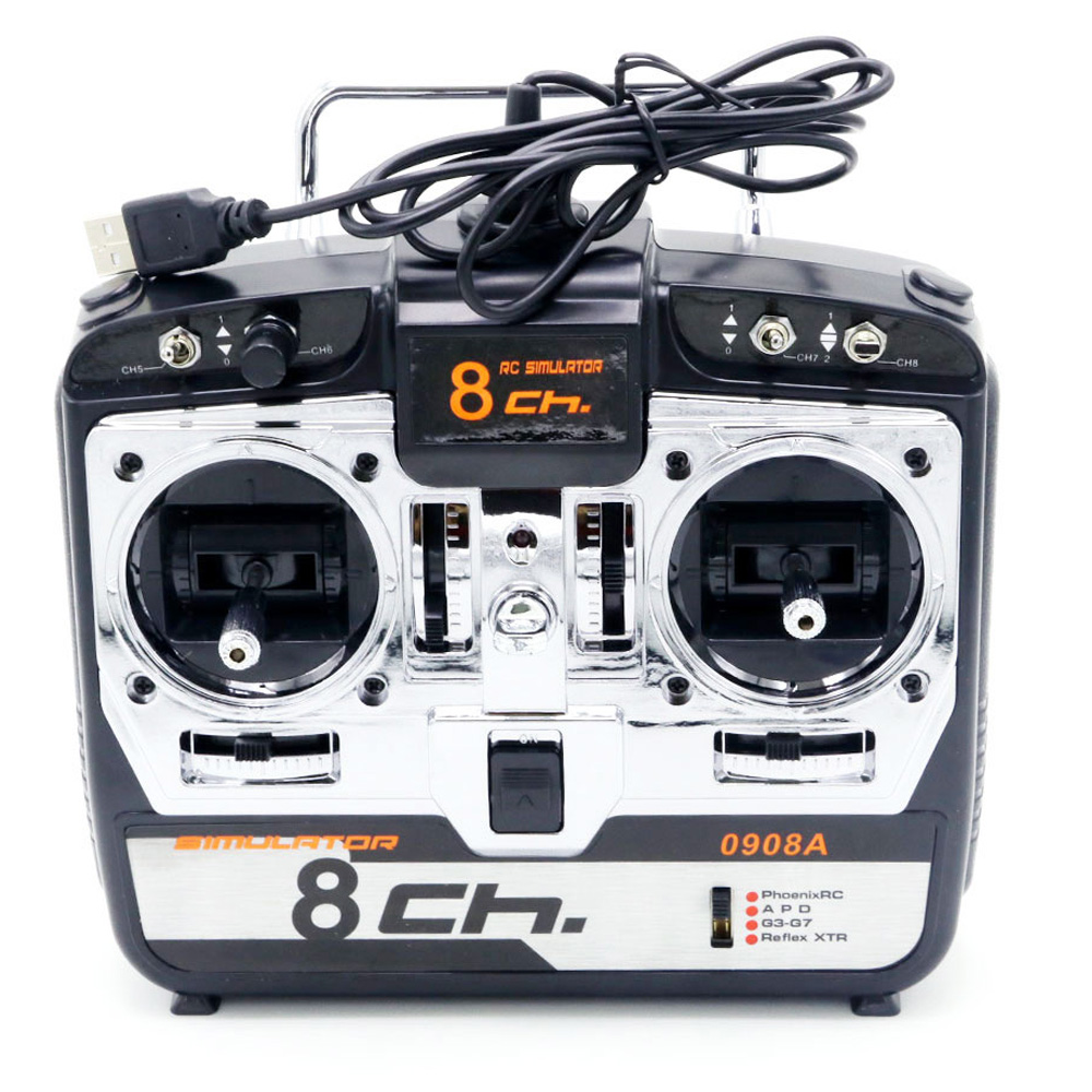 8CH RC Simulator Real Flight Helicopter 3D Airplane MultiCopter Quad Simulator JTL0908A For Rc Drone Mode 2