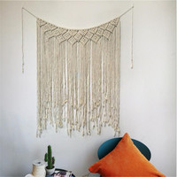 115cmx85cm Home Decorative Woven Tapestry Wedding Party Boho Rustic Macrame Curtains Wall Photo Backdrop Suppliers