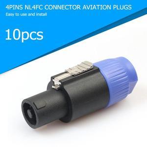 Image 2 - ALLOYSEED 10 sztuk/partia 4 biegunowe 4Pin NL4FC złącze Ohm wtyczka głośnik kabel Audio wtyczka Adapter 4 Pin Speakon kobieta Jack akcesoria
