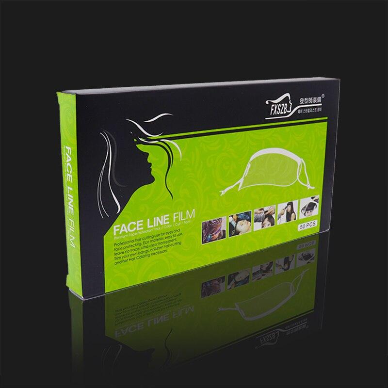 Transparent Forehead Protectors & Eye ,Mask For Hair Dye, Hair Color, Hair Cutting Scissorsand Hair,50 Sheets Per Box