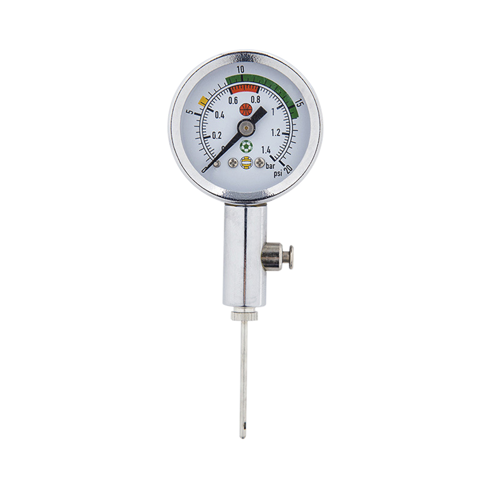 Air Meter Metal Accurate Ball Barometer Air Pointer Test Adjustment Football Basketball Silver Volleyball Ball Pressure Gauge