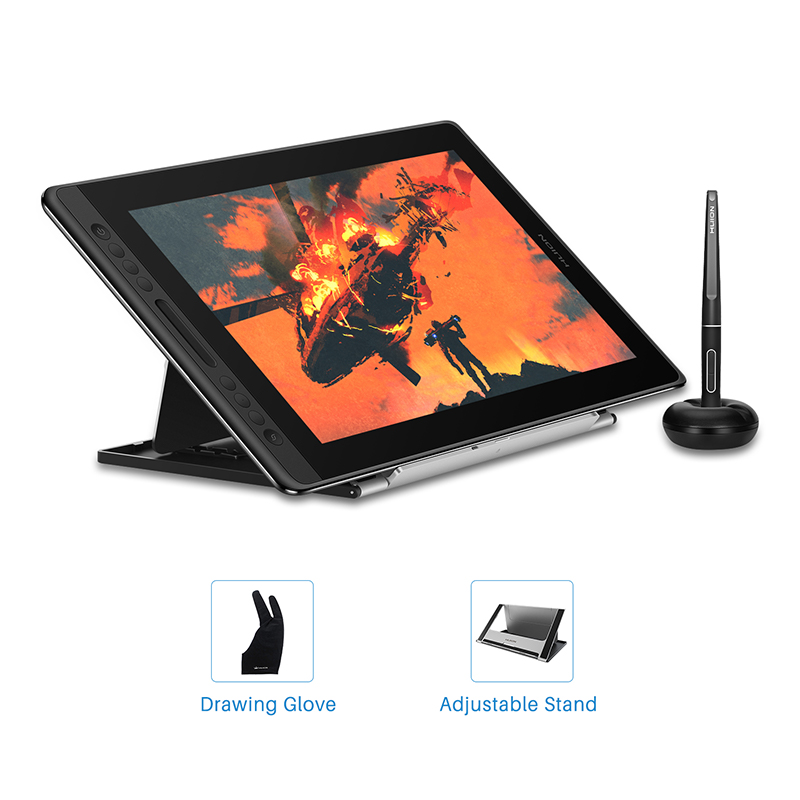 HUION Kamvas Pro 16 15.6 Inch 266PPS Graphic tablet Drawing tablet Digital Monitor 8192 Pressure Levels with Shortcut keys image