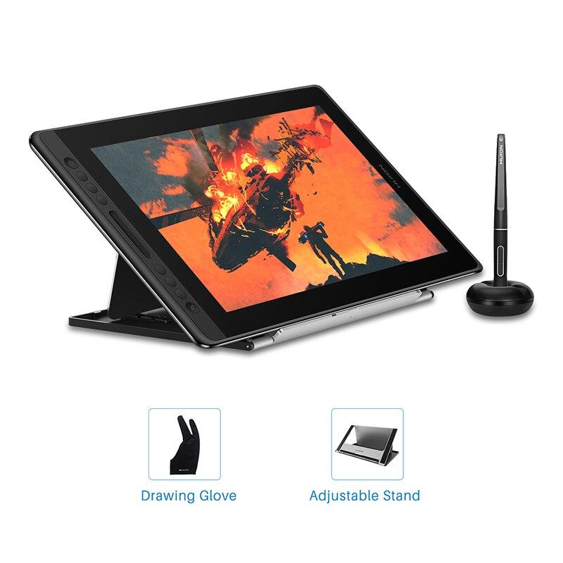 HUION Kamvas Pro 16 15.6 pouces 266PPS tablette graphique dessin tablette numérique moniteur 8192 niveaux de pression avec touches de raccourci