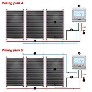 Image 5 - 20m2 פחמן חם רצפת לינוליאום אינפרא אדום סרט עם אביזרי עם אינטליגנטי Wifi תרמוסטט מלחציים
